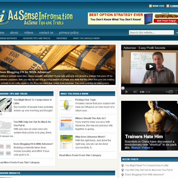 Adsense Information Blog – Resources Tips and Tricks