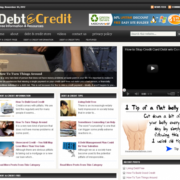 Debt   Credit Blog  Free Online Tips and Resourses