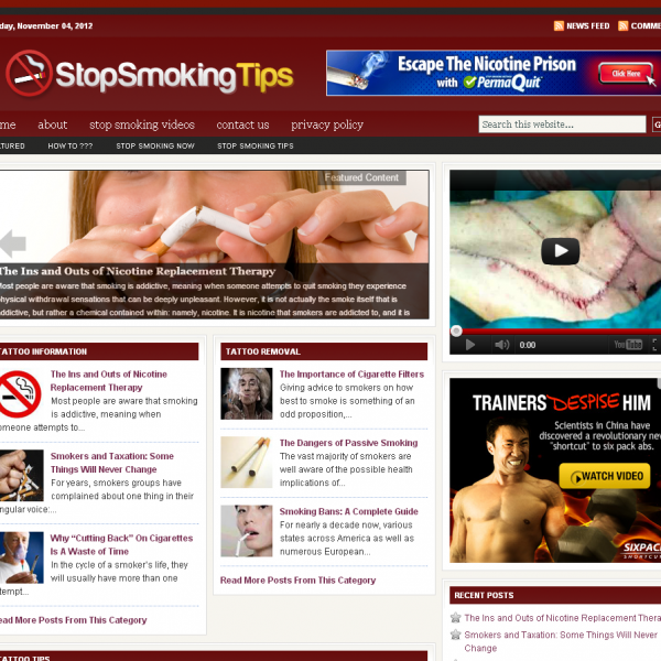 Stop Smoking Tips and Information