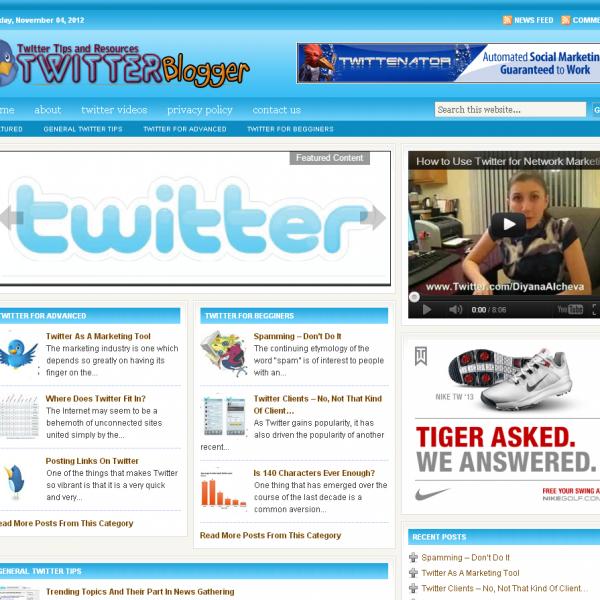 Twitter Info Blog
